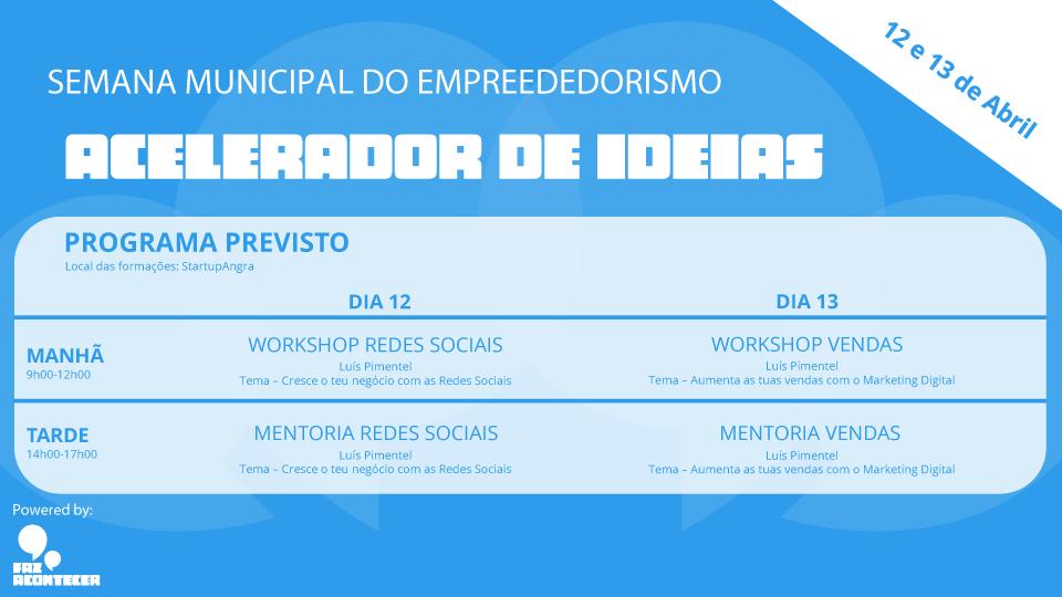 WorkShops e Mentoria – Semana Municipal do Empreendedorismo